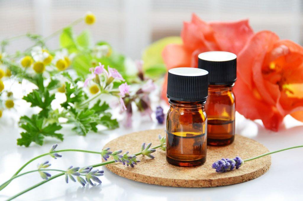 Essential oils herbal flowers